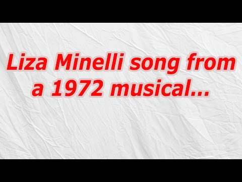 Liza Minelli song from a 1972 musical (CodyCross Answer/Cheat)