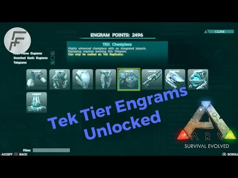 Ark survival evolved: How to Unlock Tek Tier Engrams