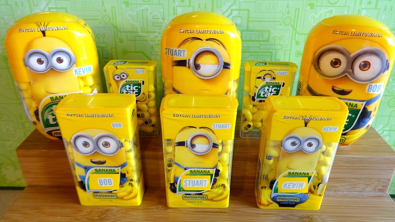 2015 minions tic tac banana candy set of 9 limited