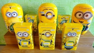 2015 Minions Movie Tic Tac Banana Candy Full Set of 9 Limited Edition Collection Unboxing