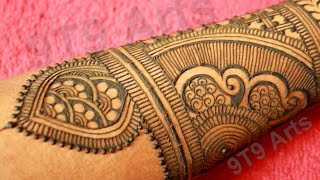 New Stylish Full Hand Mehndi design||Easy Dulhan Mehndi Designs||Latest Bridal Henna Design for Back