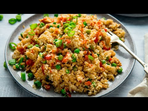 Cauliflower Fried Rice.  Excellent Low Carb fried Rice