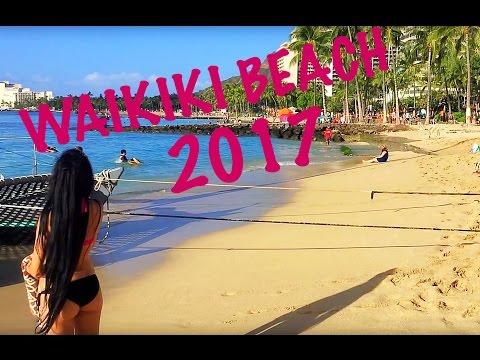WAIKIKI BEACH WALK TOUR! HONOLULU OAHU 2017 HD 1080P