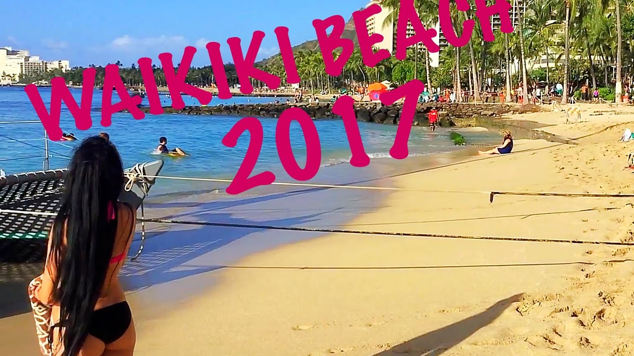 waikiki beach walk tour! honolulu oahu 2017 hd 1080p - youtube