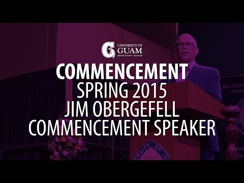 Spring 2015 - Jim Obergefell, Commencement Speaker
