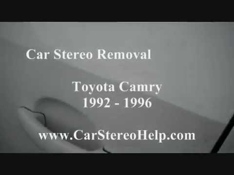 How to Toyota Camry Car Stereo radio cd Removal replacement repair