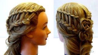 Прическа на лето с плетением. Легкая красивая прическа своими руками. Summer hairstyle with braids