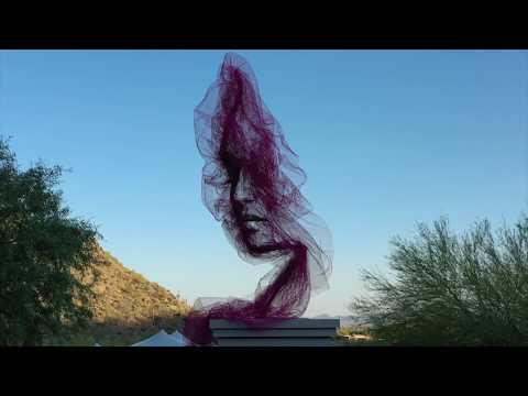 benjamin shine defies gravity with his latest ethereal sky flow sculpture 'quietude'