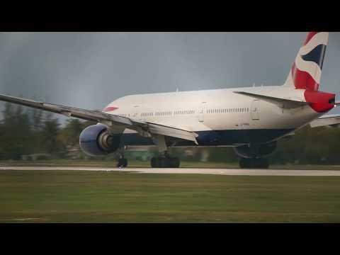 British Airways 777-200ER Departure from Owen Roberts International
