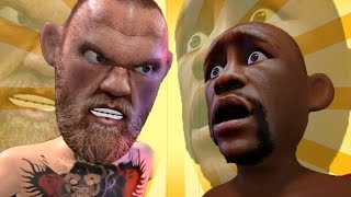 Conor McGregor BREAKS Floyd face with ONE PUNCH!!!
