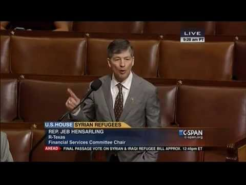 Hensarling Urges Colleagues: Take Your Responsibility to Secure Homeland Seriously