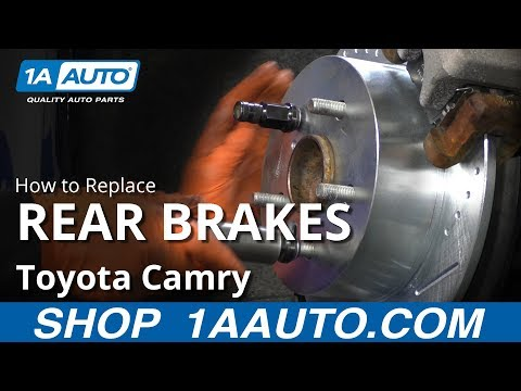 How to Replace Rear Brakes 11-17 Toyota Camry