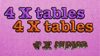 4 times tables- multiplication song (and skip counting by 4)