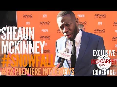 "Sheaun McKinney interviewed at FX Network's ""Snowfall"" Premiere Red Carpet #SnowfallFX"