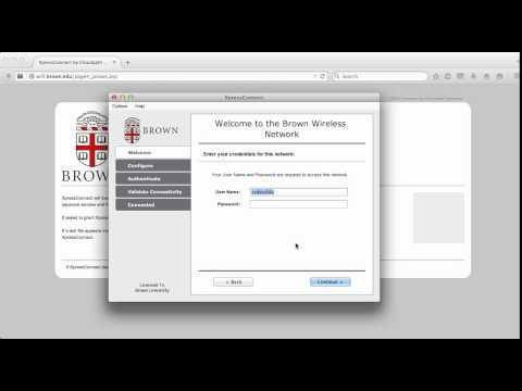 Eduroam Configuration for Brown Community