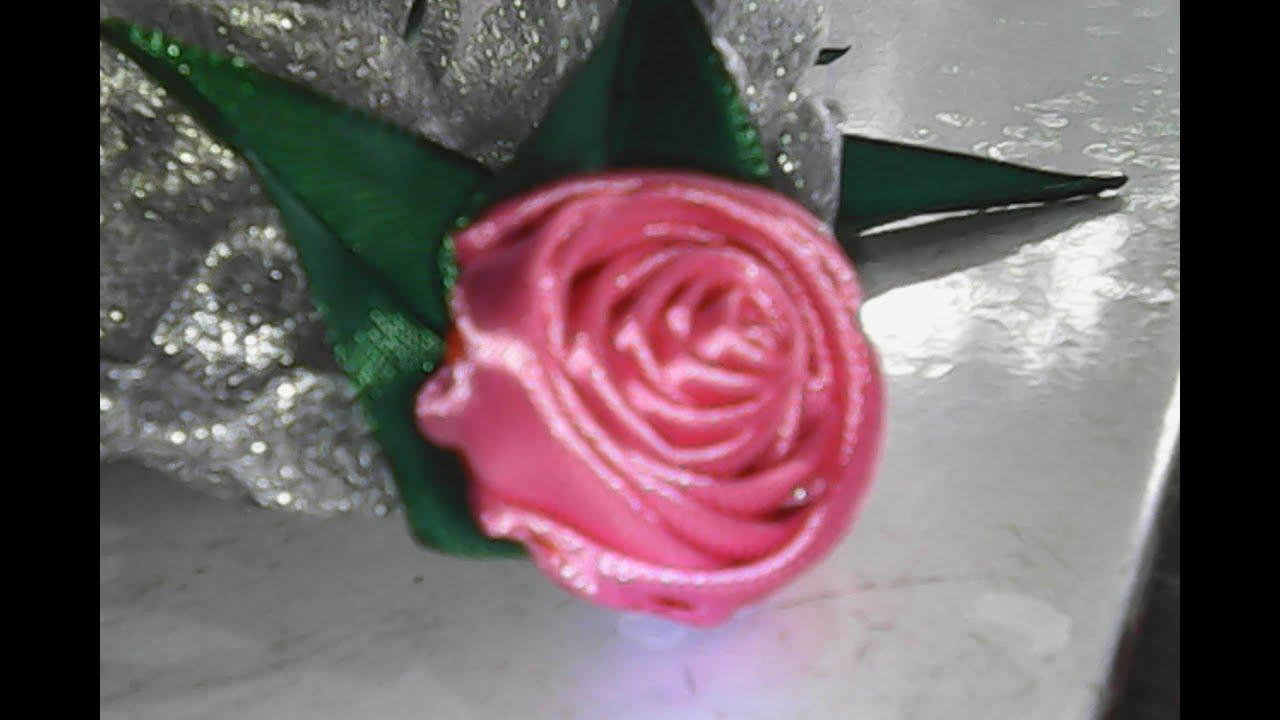 DIY-cara membuat bunga mawar dari pita satin-how to make ... - photo#4