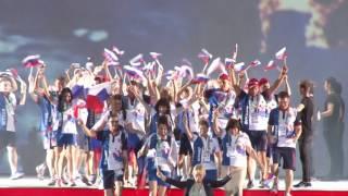 Российская делегация на открытии Сурдлимпиады в Самсуне 2017