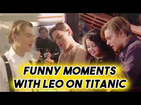 LEONARDO DICAPRIO BEING FUNNY ON TITANIC SET  BEHIND THE SCENES