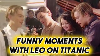 LEONARDO DICAPRIO BEING FUNNY ON TITANIC SET | BEHIND THE SCENES