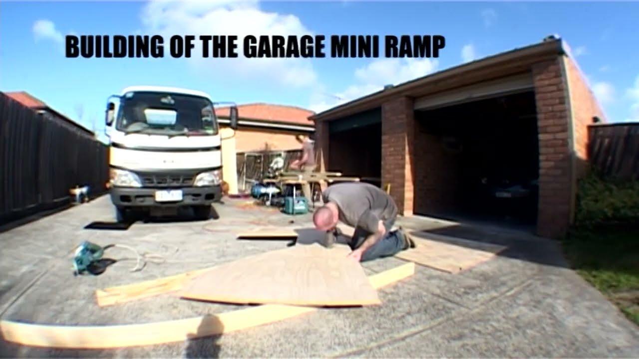 Building of the garage mini ramp Time lapse YouTube – Garage Mini Ramp Plans