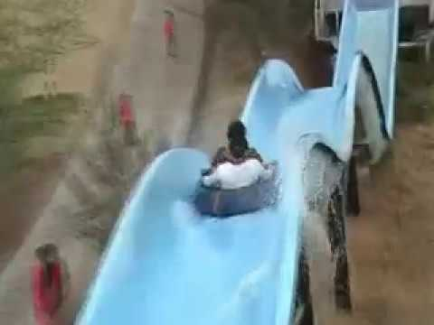 fun in water slide at highland park  nagpur