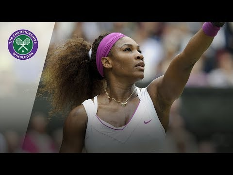 Serena Williams hits four straight aces in 2012 Wimbledon Final
