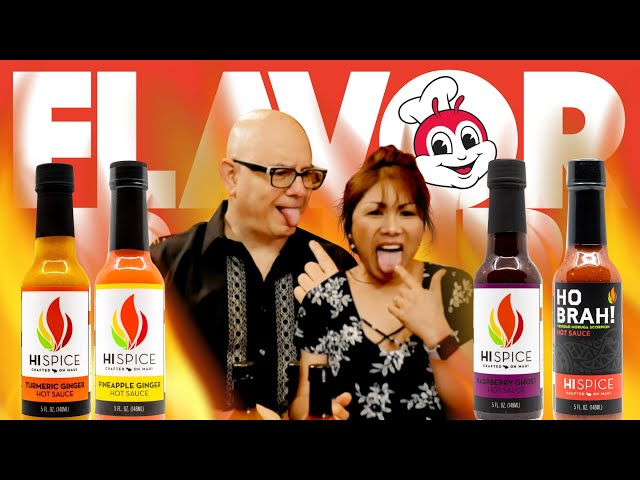 HI SPICE HOT SAUCE | FLAVOR BOMB WITH JOLLIBEE!