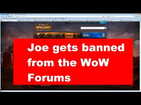 Joe's Rants: Banned from the WoW Forums