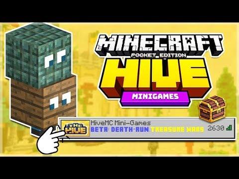 MCPE HIVEMC MINI GAMES SERVER NEW Death Run H S   Treasure