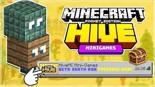 MCPE HIVEMC MINI-GAMES SERVER! - NEW Death Run, H&S + Treasure Wars (MCPE, Windows 10, Xbox, Switch)
