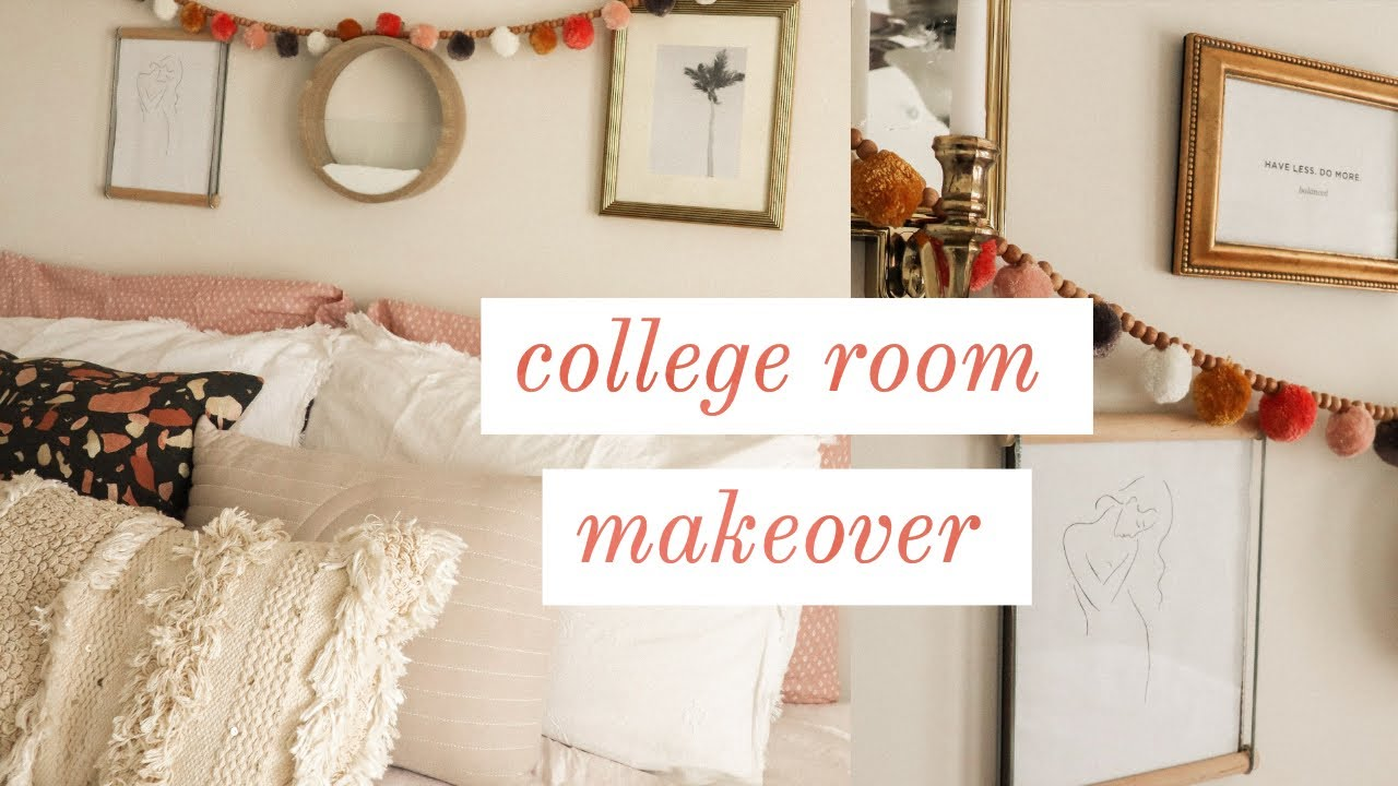 College Room Makeover Thrifted Room Decor Virginia Tech Youtube