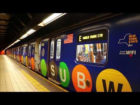 "MTA New York City Subway : WTC Bound ""Subway Library"" R160B E Train @ Jamaica-Van Wyck"