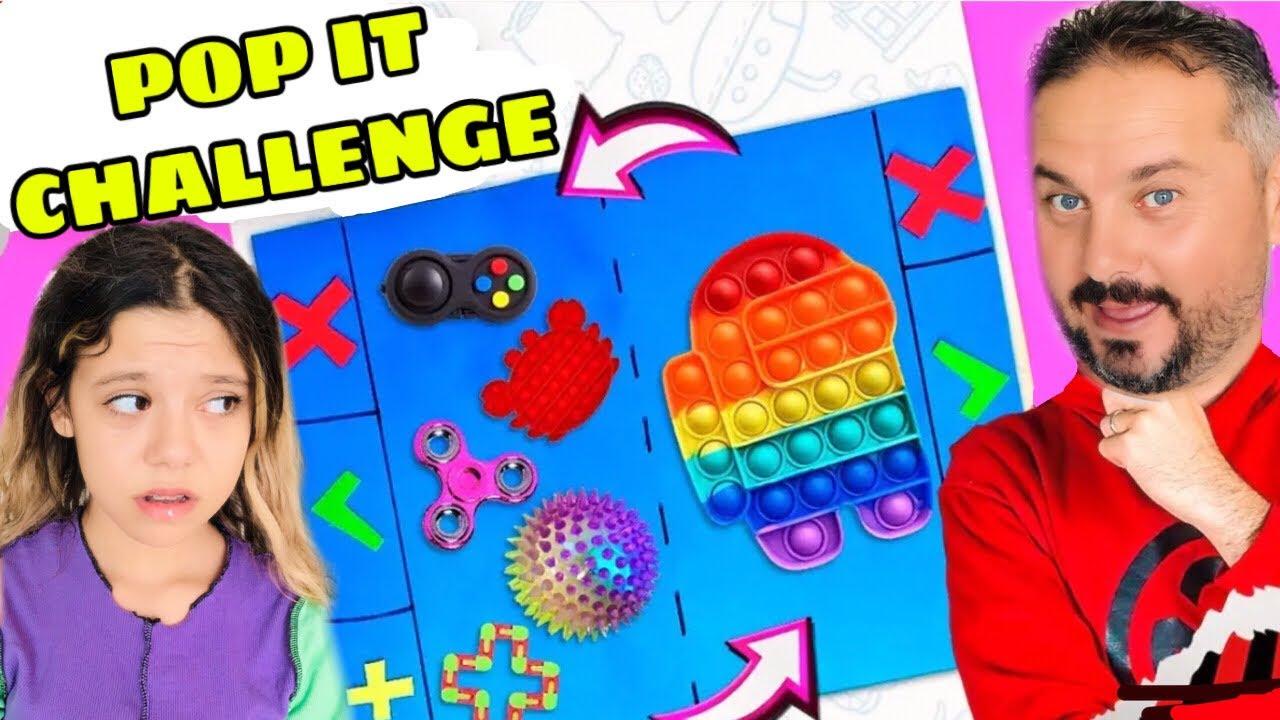 BABAMLA Birlikte Tiktok Pop it Takas Challenge! Trading Fidget Toys Pop it Challenge
