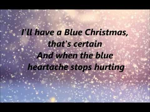 Glee - Blue Christmas - Lyrics