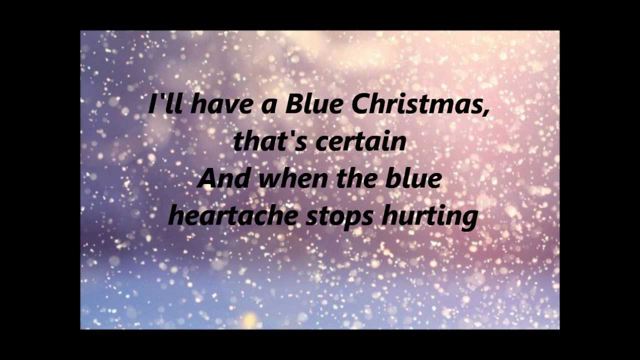 Glee - Blue Christmas - Lyrics - YouTube