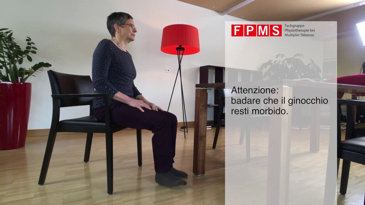 Esercizio di fisioterapia «Gioco di gambe»