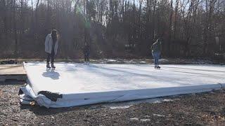 Outdoor ice skating rinks popping up around Maine