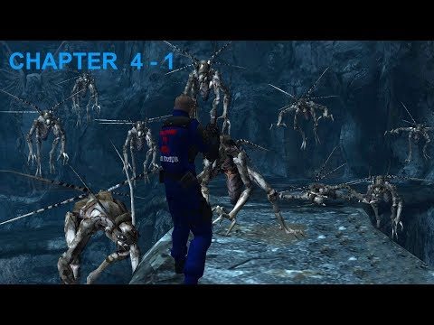 """Resident Evil 4 - Story (Welcome To Hell - """"Dark Edition"""") Mode - Chapter 4-1 (New Game - Pro) HQ"""