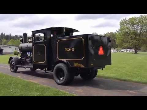 Road Steam Locomotive PC&O.  Testing Running Gear And Setting Up For Run By.