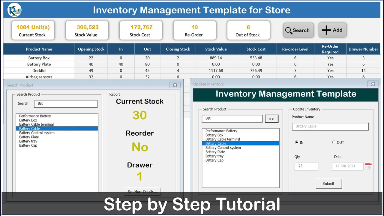 Will learn how to create an excel and vba based inventory management template. Inventory Management Template For Store Youtube