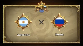 Аргентина vs Россия | Argentina vs Russia | Hearthstone Global Games (31.05.2017)