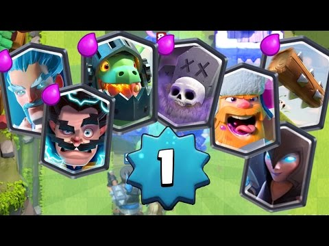 [LIVE] LEVEL 1 ACCOUNT SPIELEN! +NACHTHEXE INFOS! Clash Royale deutsch