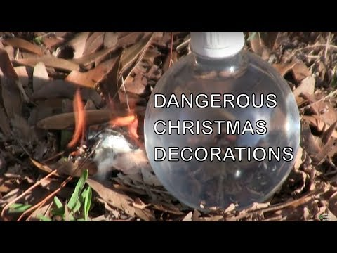 Water Bottle Solar Fire Starter Holiday Decoration Warning