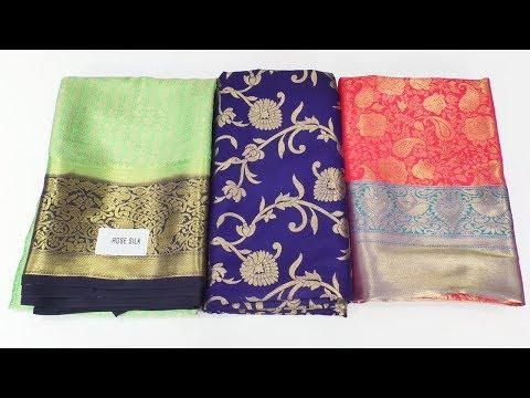 Banarasi silk katan pattu Sarees with Price || Sri Krishna Silks || Real Bridal Banarasi