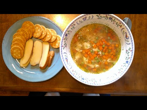 chicken-noodle-soup-for-my-grandchildren-served-with-crackers-and-my-smoked-gouda-cheese