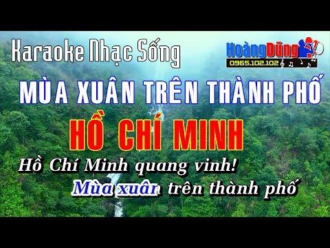 Karaoke Nhạc Sống - Mùa Xuân Trên Thành Phố Hồ Chí Minh - Hoa Tran❤️