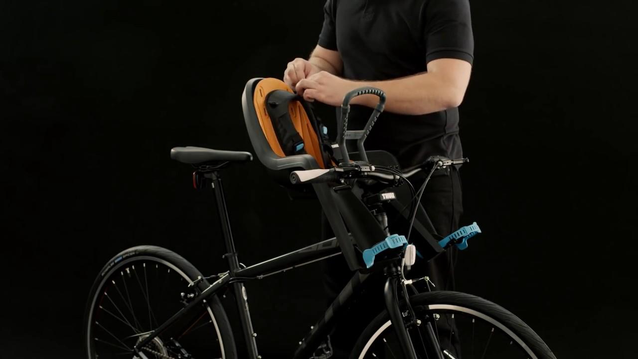 thule kinder fahrradsitz ridealong mini youtube. Black Bedroom Furniture Sets. Home Design Ideas