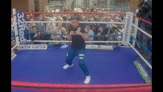 'YOU WILL SEE THE PERFOMANCE OF MY CAREER' - CARL FRAMPTON SHADOW BOXES IN FRONT OF FANS