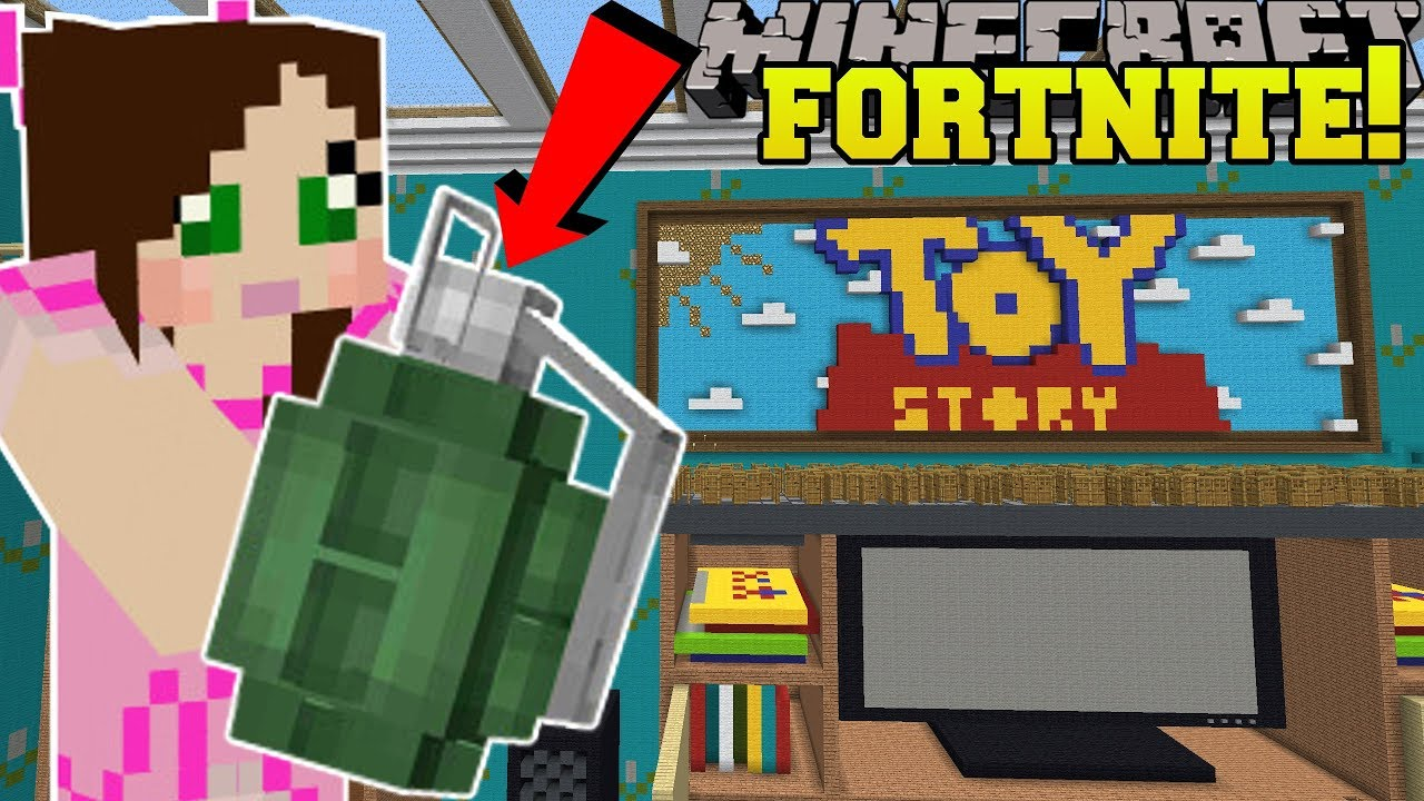 Minecraft: TOY STORY LIVING ROOM - FORTNITE BATTLE ROYALE - Modded Mini-Game