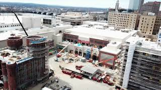 MGM Springfield construction: April drone footage of South End